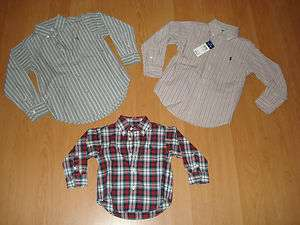 Ralph Lauren Infant/Toddler Boys Button Down Dress Shirts, MSRP $35.00