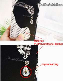 Apple iPhone4 protective Leather Case Cover   earring