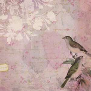 com Flora & Fauna Flat Paper 12X12 Lovebirds Arts, Crafts & Sewing