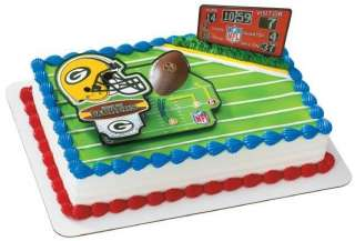 NFL GREEN BAY PACKERS FOOTBALL BIRTHDAY PARTY CAKE KIT DECORATION