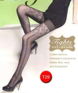 Fashion Sheer Tights Various Pattern Pantyhose Stocking 12 Denier