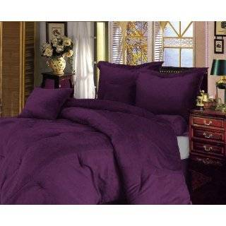 Rich Purple Microsuede Comforter/bed in a bag Set Twin Size Bedding
