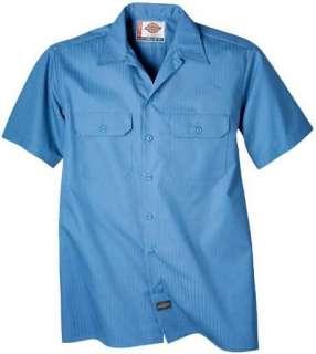 Dickies Twill Stripe Short Sleeve Work Shirt WS515