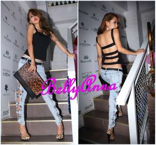 Sexy Sequins Bandage Back Padded Tank Top Shirt Blouse Club Wear Free