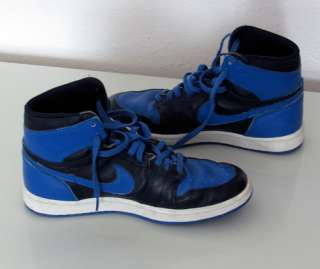 1985 Nike Air Jordan 1 High Top Basketball Shoes Blue/Black 9.5