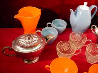 1950s GIRLS TOY TEA SET Cookware VARIOUS SETS Plastic KITCHEN