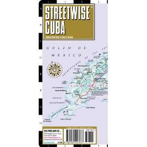 Streetwise Cuba Map   Laminated Country Road Map of Cuba