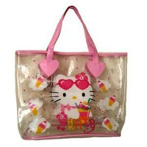Hello Kitty  Large Beach Bag (Clear) Toys & Games