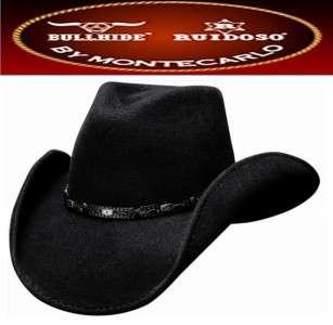 Bullhide Hats WILD HORSE Wool Felt Western Cowboy Hat Black NWT