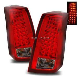 03 07 Cadillac CTS LED Tail Lights   Red Smoke Automotive