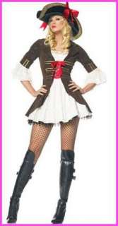 Sexy Ladies Pirate Fancy Dress Costume Outfit Sizes 8 10 12 14 16 (S M