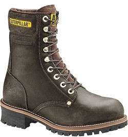 NEW CATERPILLAR LOGGER Mens Steel Toe Brown Boots 13 W