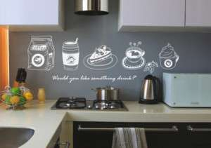 TEA TIME   KITCHEN CAFÉ DECOR WALL STICKER VINYL DECALS