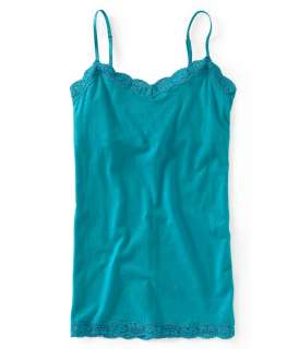 aeropostale womens solid lace cami shirt