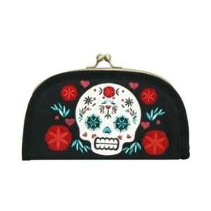 Loungefly Skull Day of the Dead Clutch Wallet