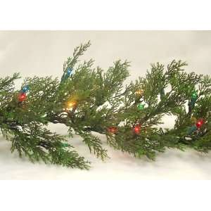 Cedar Pine Artificial Christmas Garland Multi Lights