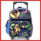 Ben 10 School Roller Backpack Rolling Bag 12 Blue
