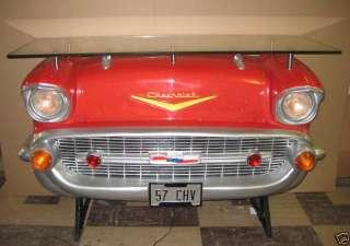 New 1957 Red Chevy Chevrolet Car Liquor Bar Furniture