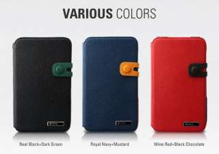 ZENUS Samsung Galaxy Note Case N7000 MASSTIGE COLOR EDGE DIARY TYPE