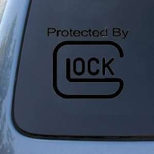 Protected By Glock   6 BLACK DECAL   Guns   Car, Truck