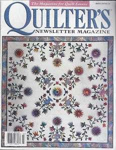 Quilters Newsletter Magazine March 1999 #310 Folk Art Compass Pt 1