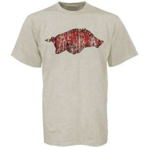 NCAA Arkansas Razorbacks Stone Big Logo T shirt Sports