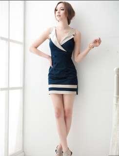 New Korea women Deep V neck mini dress dresses ZGX24