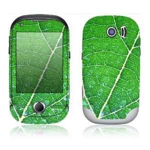 Samsung Corby Pro Decal Skin Sticker   Green Leaf Texture