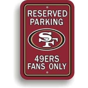 NFL San Francisco 49ers Plastic Parking Signs   Set of 2