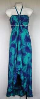 NWT Print With Tie Dye Halter Neck Fishtail FESTIVAL Dress Sz 8  14