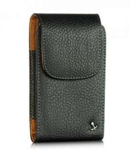 Black LEATHER POUCH Swivel Belt Clip HOLSTER for BlackBerry CURVE 9350
