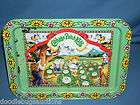 1983 CPK Cabbage Patch Kids Doll Tin Metal TV Food Serving Tray w/Legs