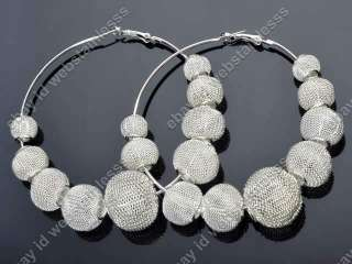 Basketball Wives Poparazzi Inspired White Mesh Spacer Loose Beads