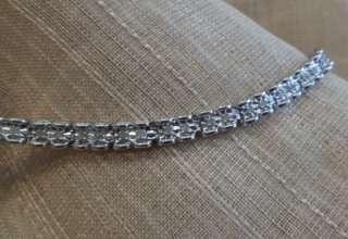 14k white gold diamond star set barrel tennis bracelet 7