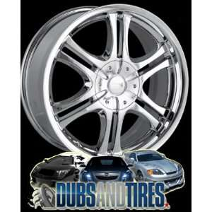 22 Inch 22x8 Ion Alloy wheels STYLE 151 Chrome wheels rims