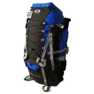 Blue Internal Frame Hiking Backpack Travel Bag