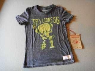 True Religion Boys Lions Football Shirt Top XS S L XL