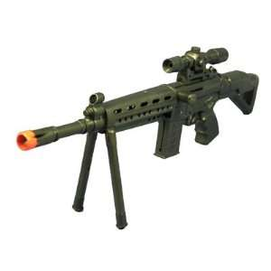 Rifle FPS 125, Bipod, Scope, Half Scale Airsoft Gun