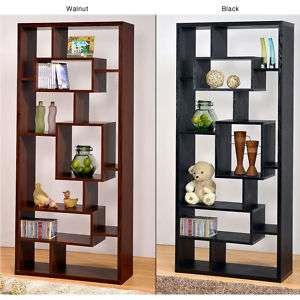Black Wood Bookcase / Display Cabinet / Book Shelf