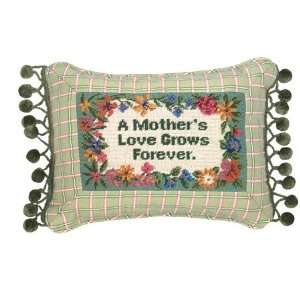 123 Creations C247.9x12 inch A Mothers Love Grows Petit Point Pillow