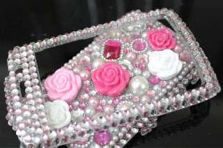 Diamond Pink Rose Hard Case Cover for Blackberry 9550 9520 storm 2