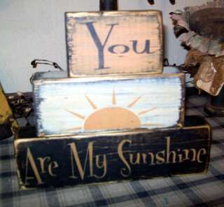 PRIMITIVE BLOCK SIGN~~YOU ARE MY SUNSHINE~~