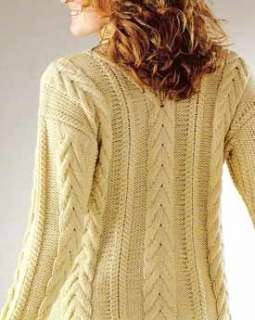 Knitting Patterns Modern Jumpers : KNITTING PATTERN LADIES MODERN ARAN CABLE JUMPER SWEATER #31 FREEPOST