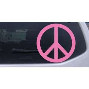 Peace Sign Symbol Car Window Wall Laptop Decal Sticker    Pink 6in X