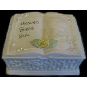 Precious Moments, Christening Baby Trinket Box, 159255