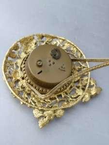 ANTIQUE VTG GOLD GILT ROSES MATSON STYLEBUILT WORKING VANITY TABLE