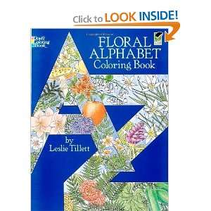 Floral Alphabet Coloring Book (Dover Design Coloring Books