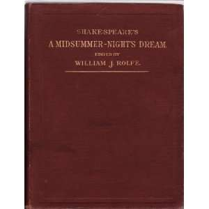 Shakespeares Comedy of A Midsummer Nights Dream (English