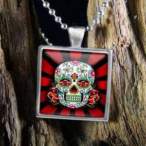 Dia De Los Muertos Day of the Dead Tattoo Skull Sterling Silver
