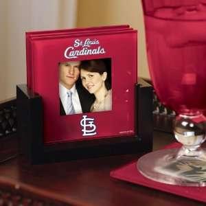 Memory Company St. Louis Cardinals Art Glass Coaster Set